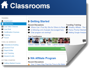 Image showing discussions in the Wealthy Affiliate classroom for My honest wealthy affiliate review