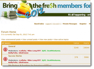 The Bring the Fresh Forum