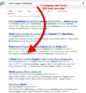 Smart Organic Marketing - Shameful SEO results