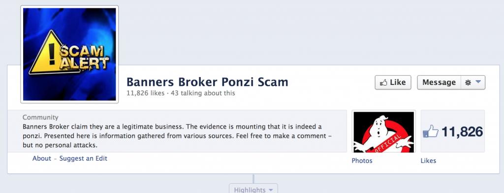 banners broker ponzi scheme