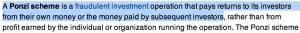 Ponzi Scheme Definition