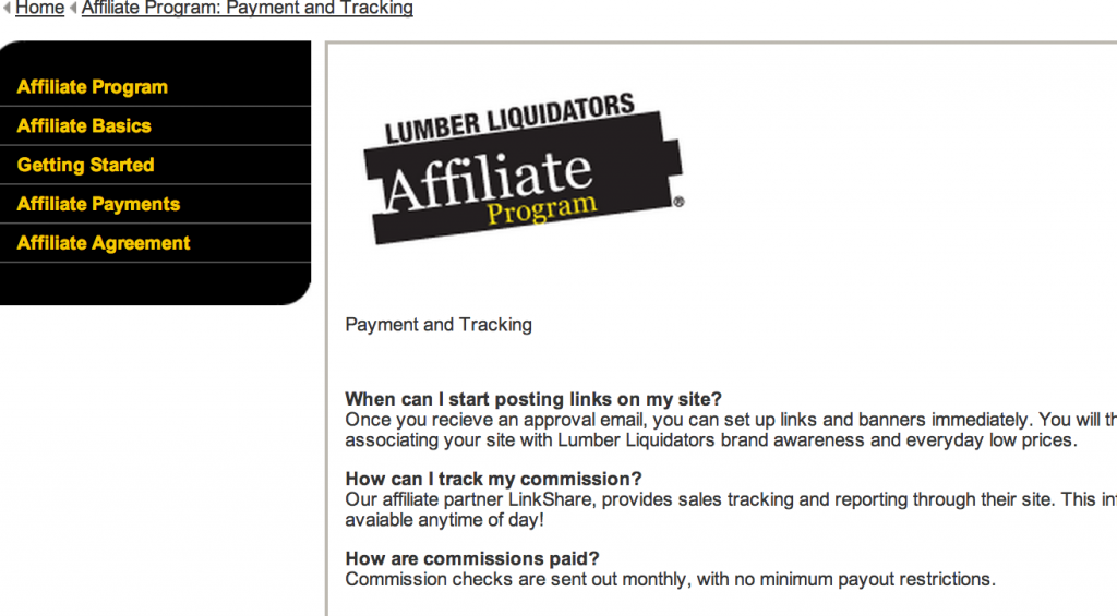 Lumber Liquidators Affiliate Program