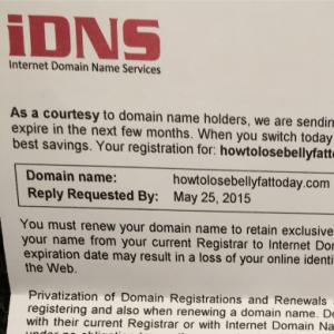 The iDNS domain scheme