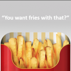 affiliate marketing upsells compared to french fries